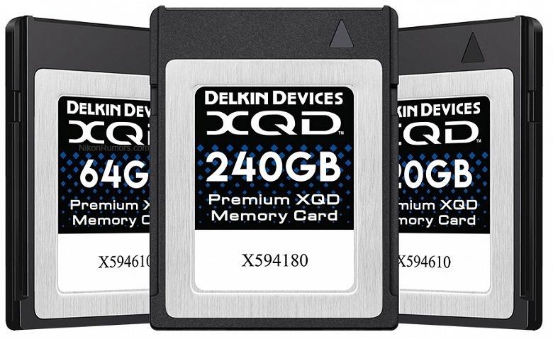 Delkin скоро представит карты памяти XQD, каждая из которых будет иметь серийный номер