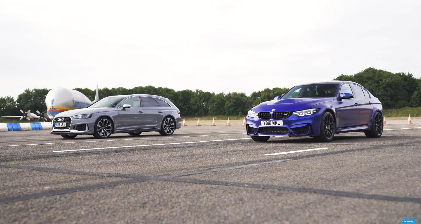 BMW M3 CS и Audi RS4 сравнили в дрэг-гонке