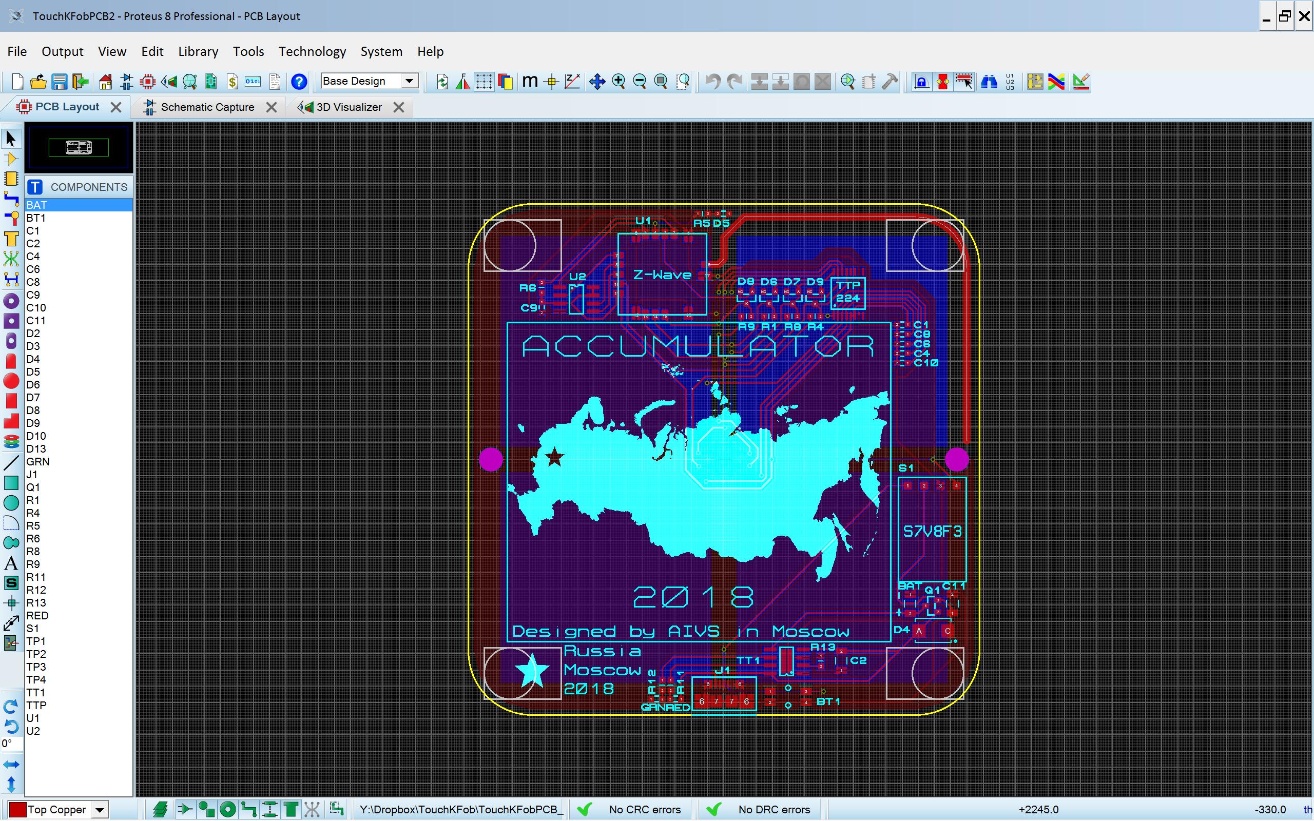 Разработка сенсорного Z-Wave выключателя на аккумуляторе со светящимися кнопками - 5