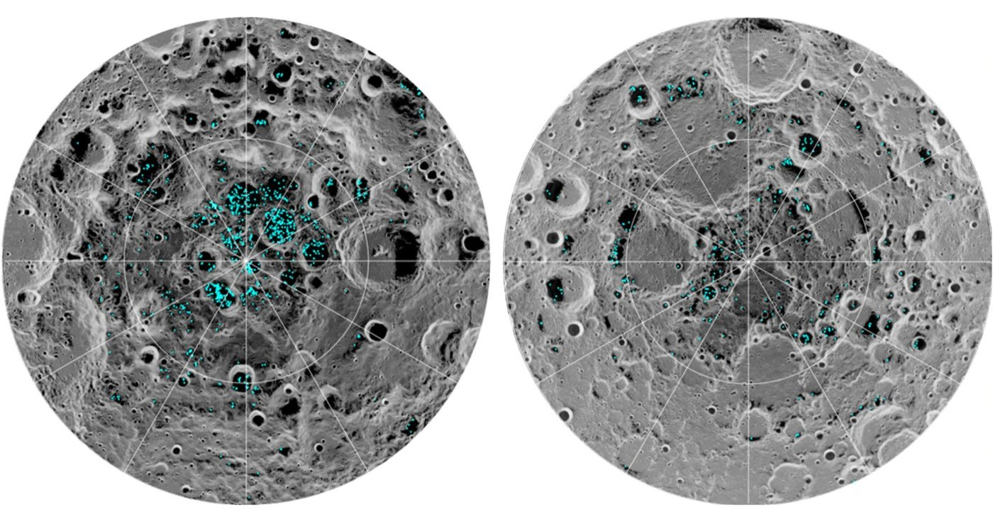 Подтверждено существование водяного льда на Луне