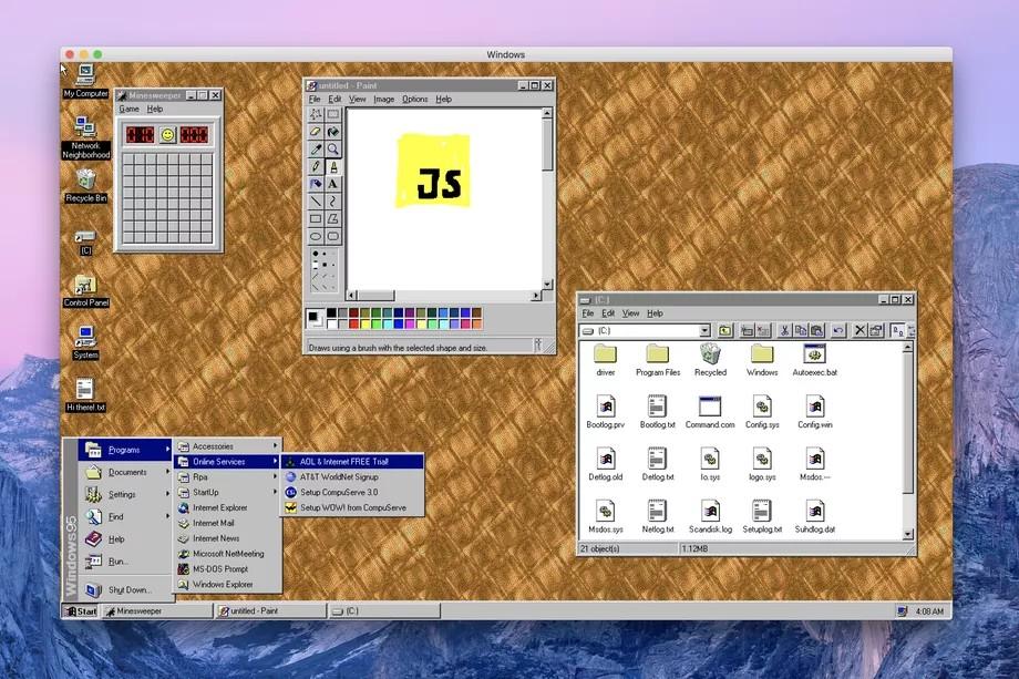 Windows 95 портировали на Electron - 1