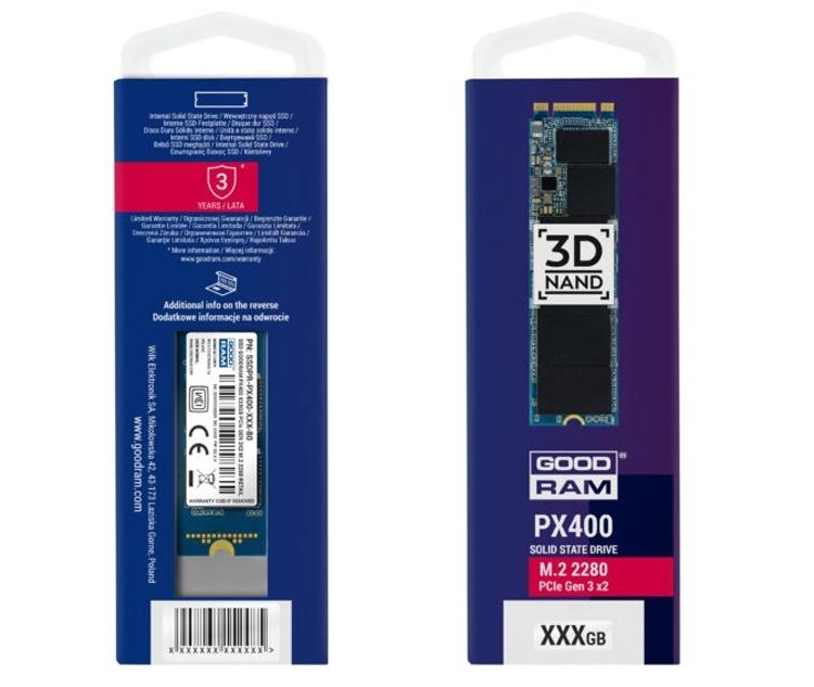 SSD-накопители GOODRAM PX400 имеют ёмкость до 1 Тбайт
