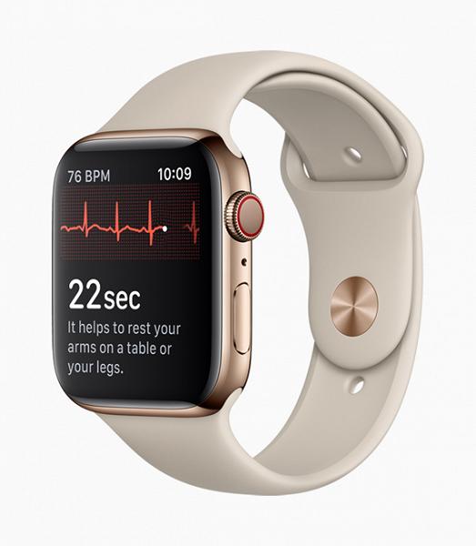 Датчик ЭКГ в Apple Watch Series 4 не будет работать на момент выхода часов