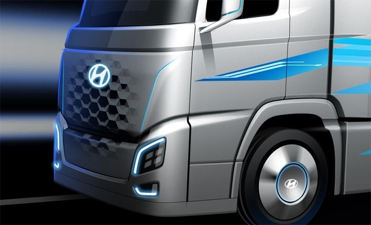 Hyundai показала грузовой автомобиль на топливных элементах