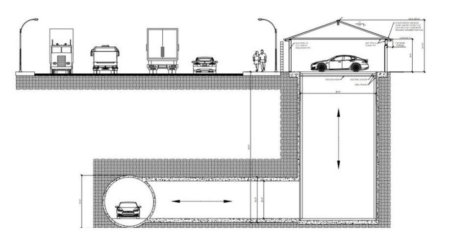 Гараж, соединенный с подземным тоннелем: новый проект The Boring Company