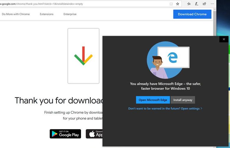 Перехват установки Firefox и Chrome в Windows 10 - 1