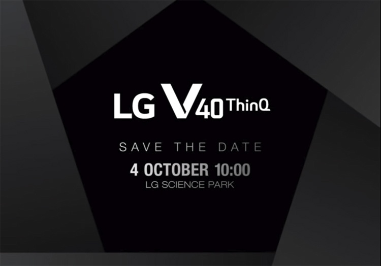 Смартфон LG V40 ThinQ с пятью камерами дебютирует 4 октября
