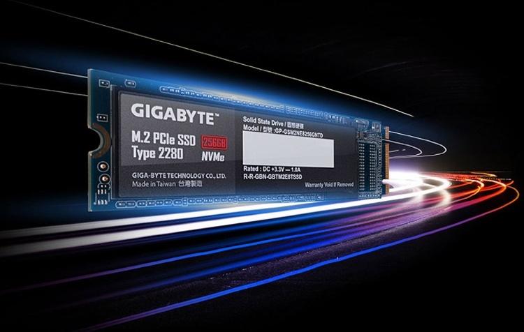 GIGABYTE представила твердотельные накопители NVMe M.2 SSD