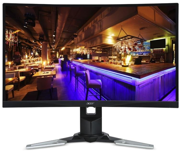 Новый WQHD-монитор Acer для игровых систем имеет частоту обновления 144 Гц