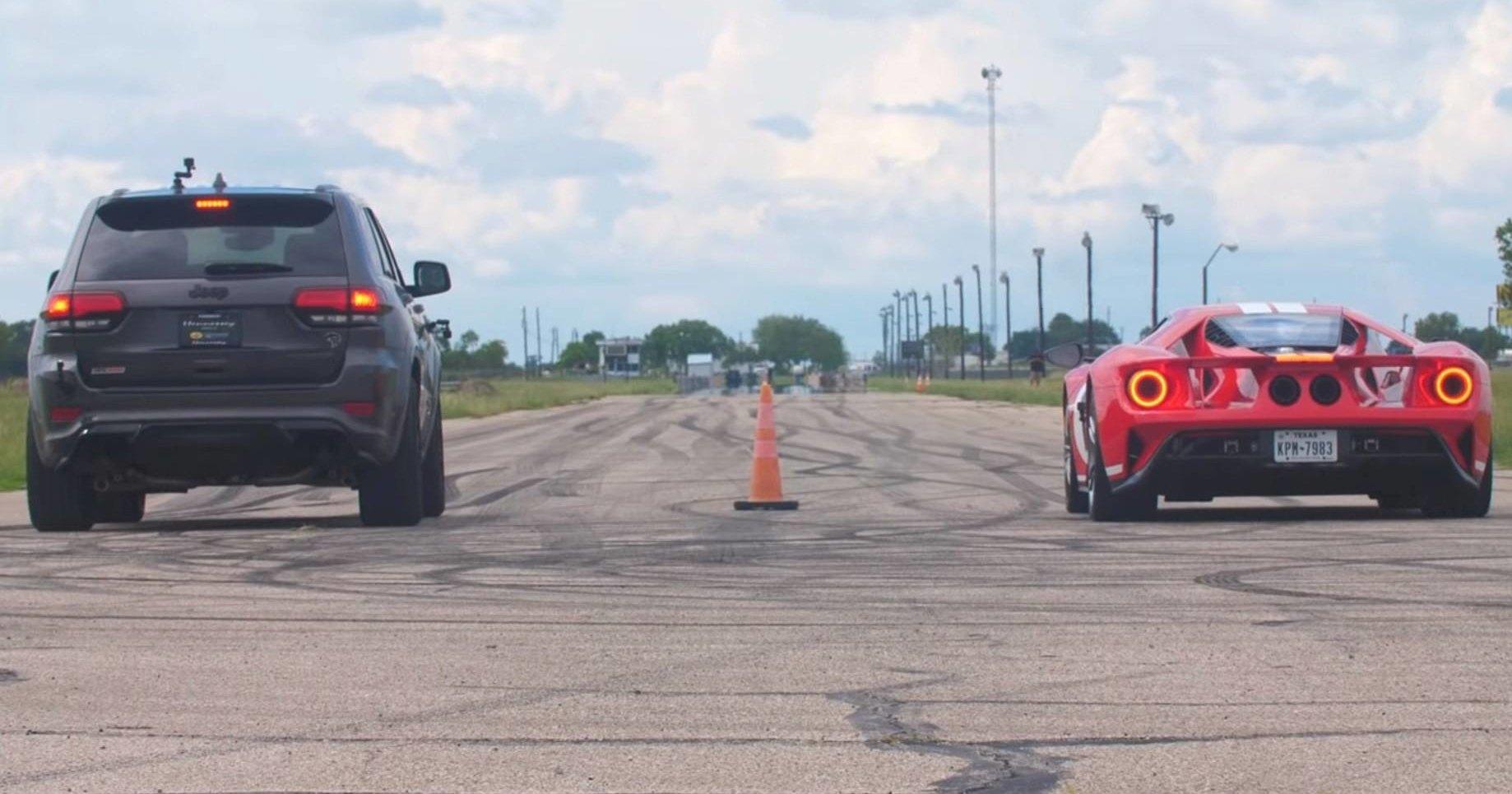Внедорожник против суперкара: кто быстрее?
