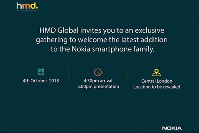 4 октября будет представлен новый смартфон Nokia