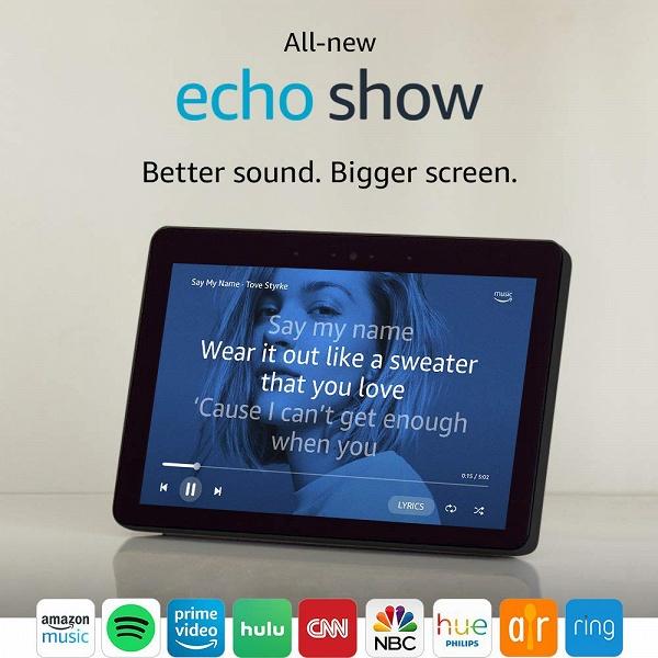 Amazon представила умную колонку Echo Show второго поколения