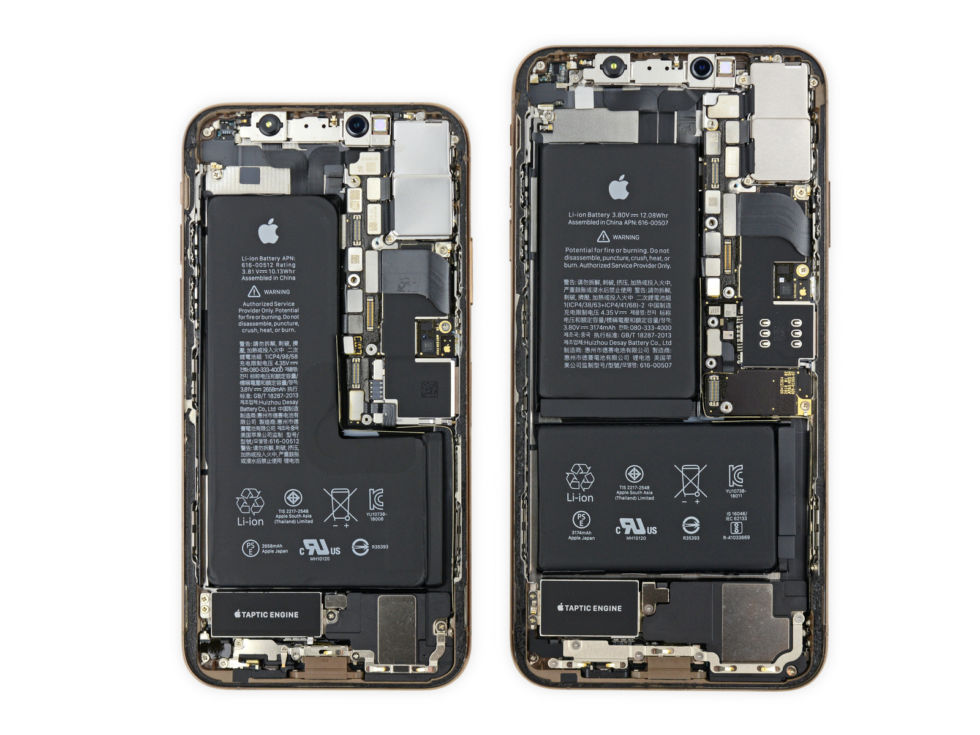 iFixit: iPhone XS и XS Max — почти точные копии iPhone X с ремонтопригодностью 6 из 10 - 1
