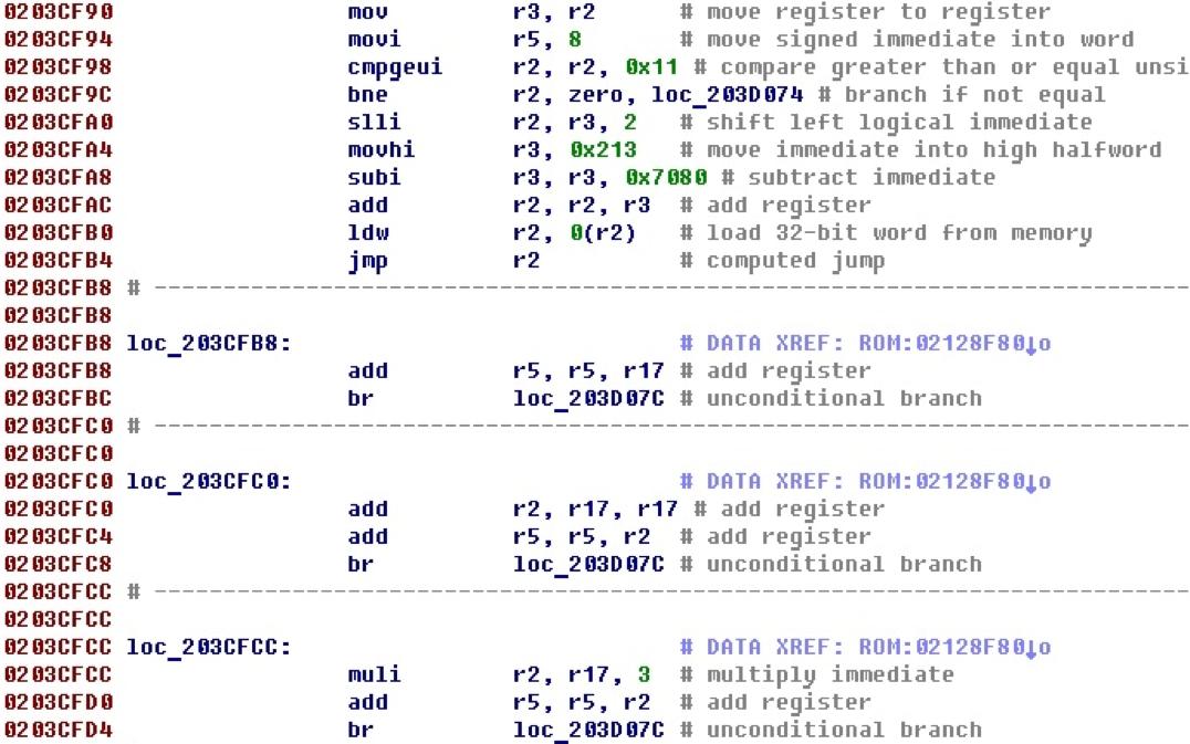 Разрабатываем процессорный модуль NIOS II для IDA Pro - 23