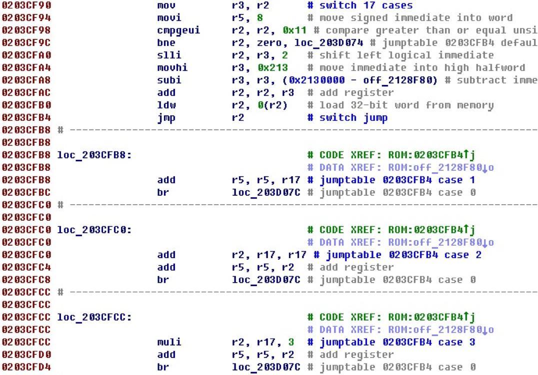 Разрабатываем процессорный модуль NIOS II для IDA Pro - 24