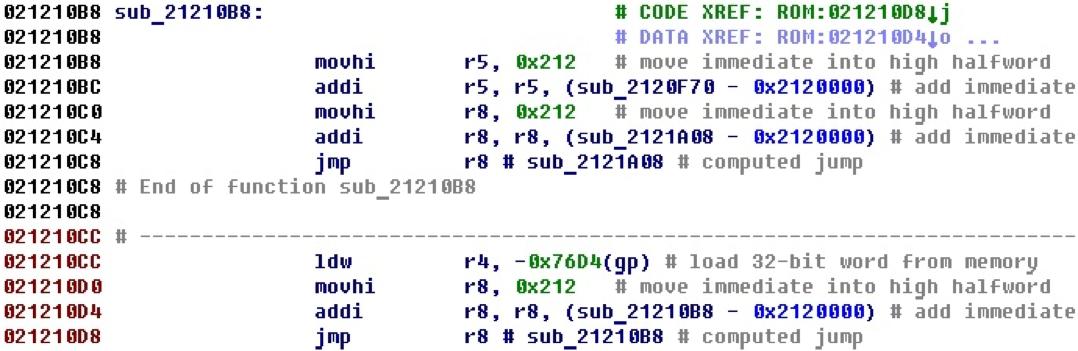 Разрабатываем процессорный модуль NIOS II для IDA Pro - 29