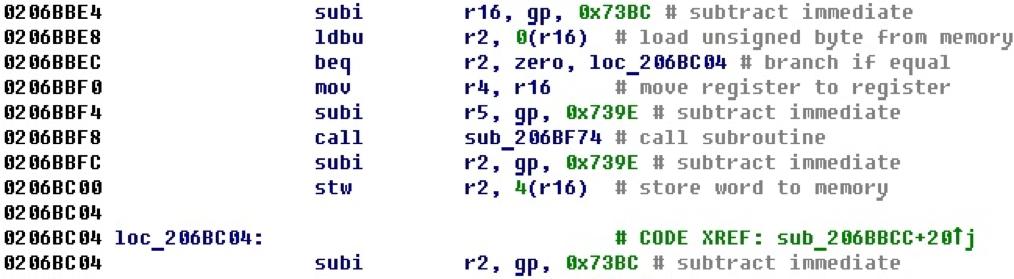 Разрабатываем процессорный модуль NIOS II для IDA Pro - 34