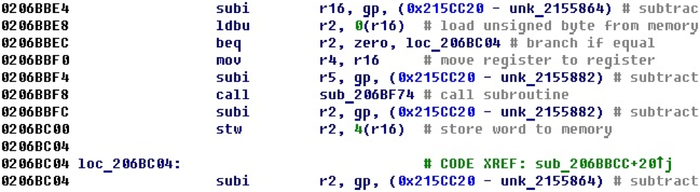 Разрабатываем процессорный модуль NIOS II для IDA Pro - 35