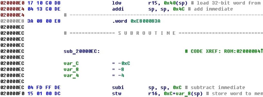 Разрабатываем процессорный модуль NIOS II для IDA Pro - 43