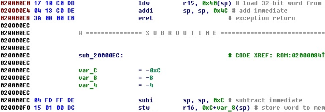 Разрабатываем процессорный модуль NIOS II для IDA Pro - 44