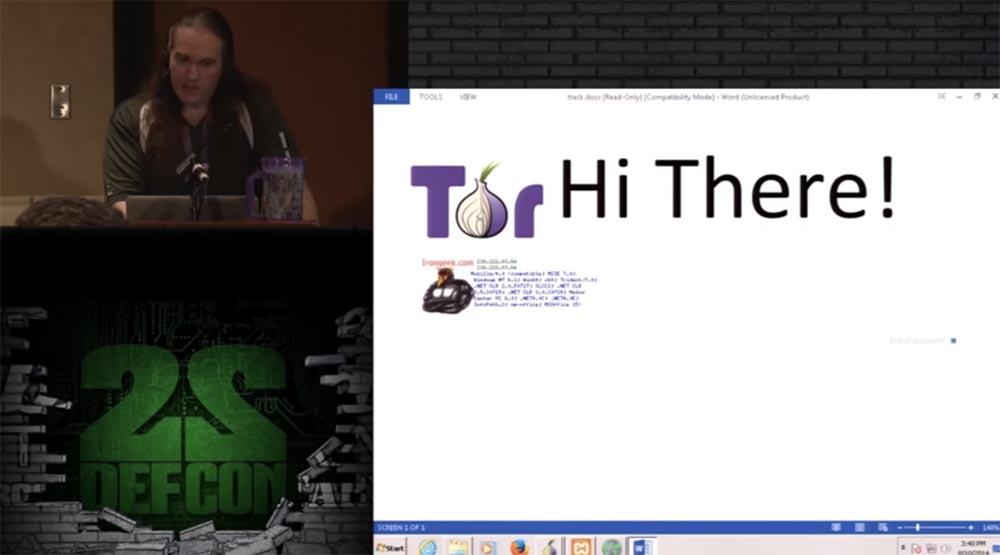 Конференция DEFCON 22. Эдриан Креншоу. На чём могут «спалиться» пользователи TOR - 14