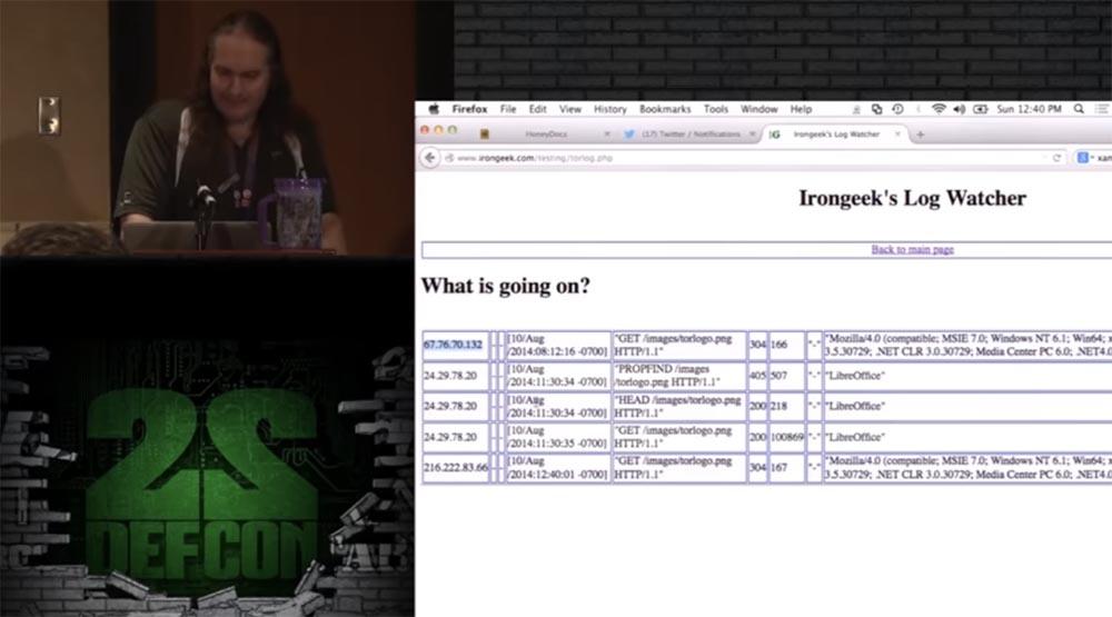 Конференция DEFCON 22. Эдриан Креншоу. На чём могут «спалиться» пользователи TOR - 15