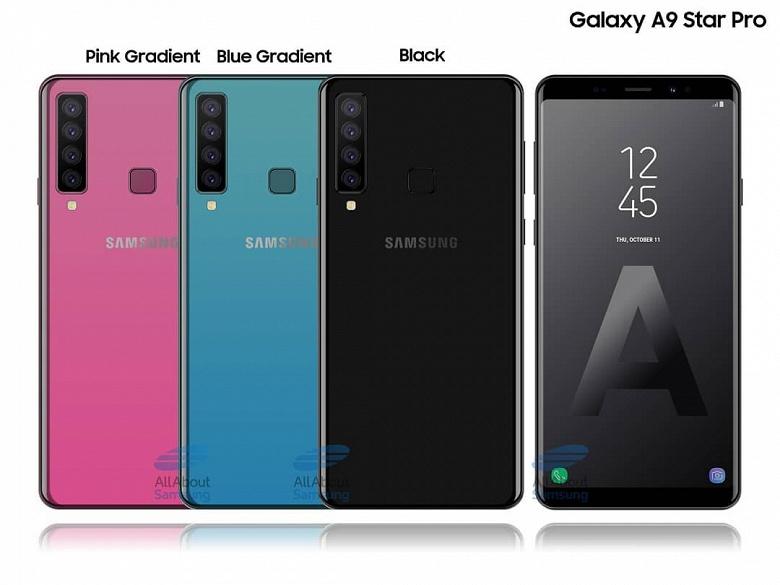 Рассекречены основные характеристики смартфона Samsung с четырьмя тыльными камерами