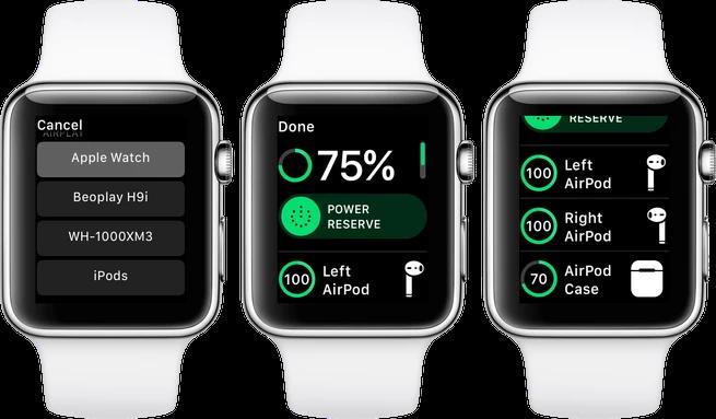 Важно знать: как контролировать уровень заряда Blutooth-гарнитуры при помощи Apple Watch