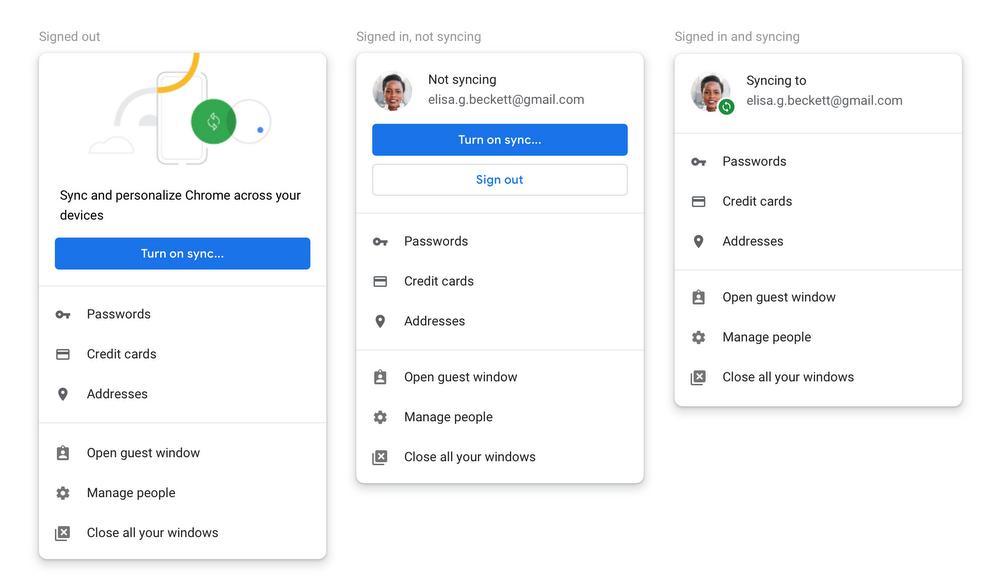 В Google Chrome добавят возможность отказа от автоматической синхронизации профиля при логине в сервисах компании* - 2