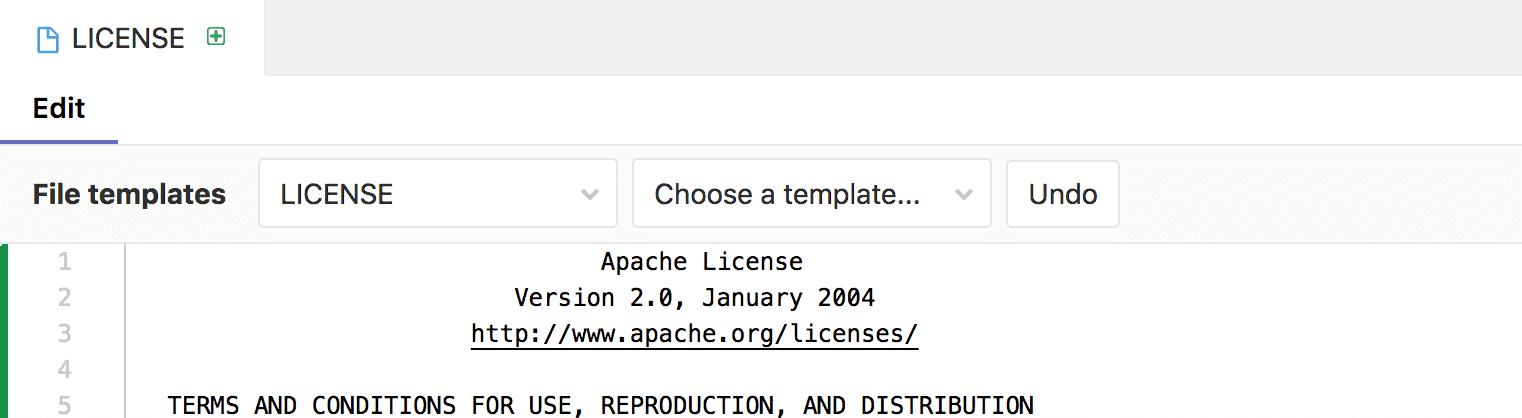 File templates in the Web IDE