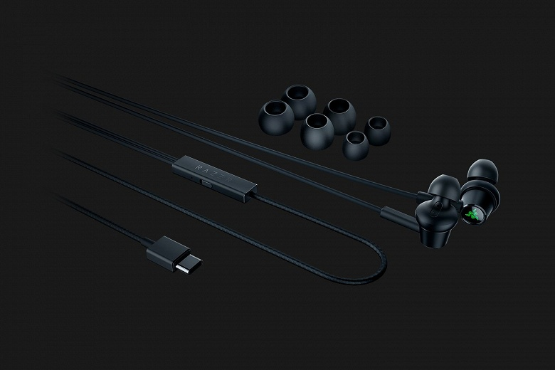 Razer Hammerhead USB-C ANC — внутриканальные наушники с USB-C и системой активного шумоподавления