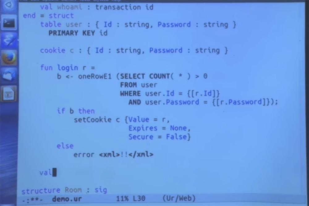Курс MIT «Безопасность компьютерных систем». Лекция 11: «Язык программирования Ur-Web», часть 3 - 13
