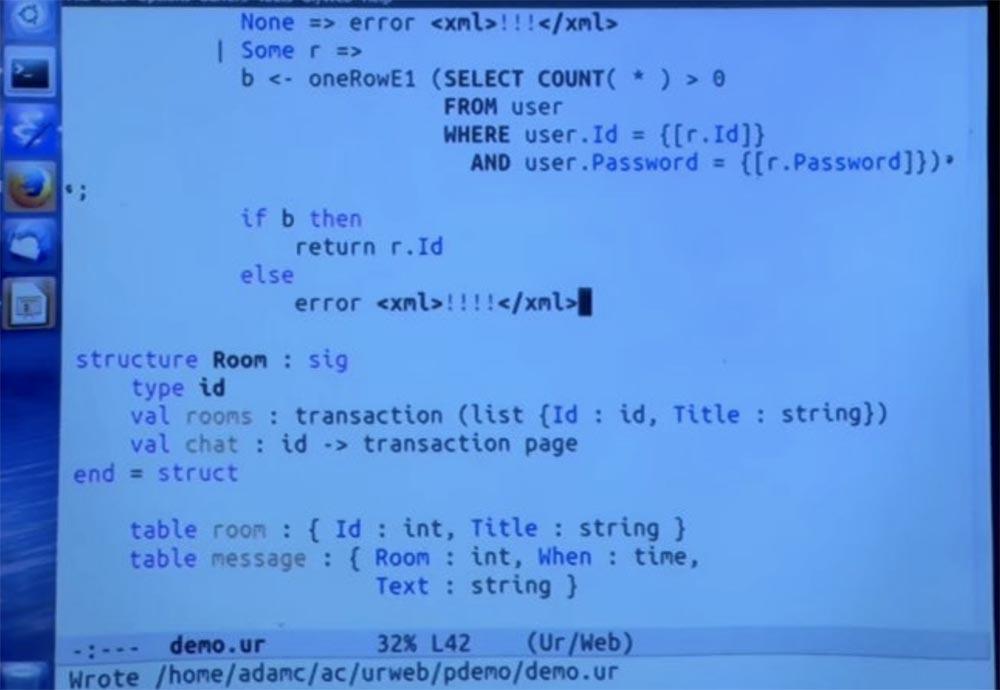 Курс MIT «Безопасность компьютерных систем». Лекция 11: «Язык программирования Ur-Web», часть 3 - 14