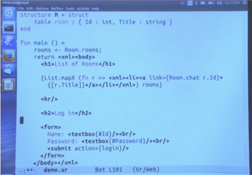 Курс MIT «Безопасность компьютерных систем». Лекция 11: «Язык программирования Ur-Web», часть 3 - 16