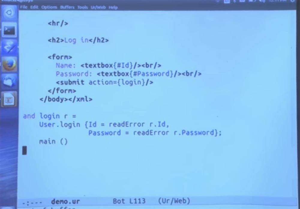 Курс MIT «Безопасность компьютерных систем». Лекция 11: «Язык программирования Ur-Web», часть 3 - 17
