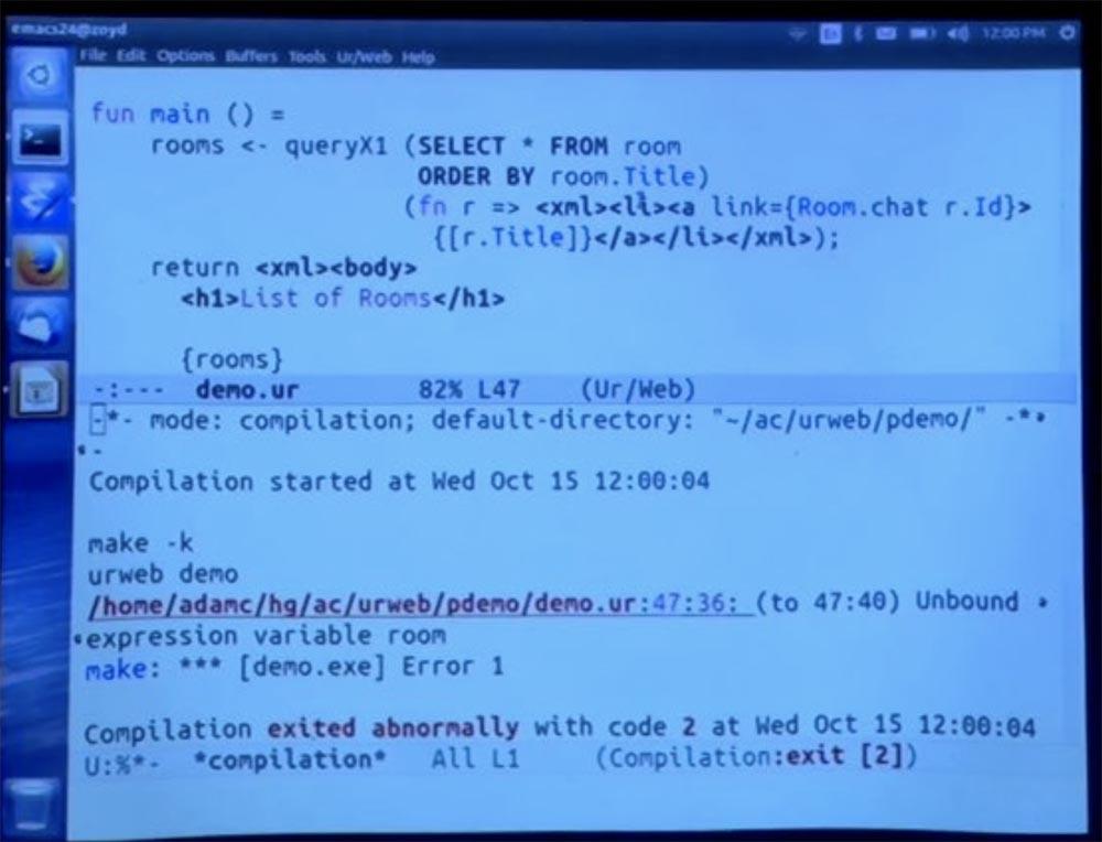 Курс MIT «Безопасность компьютерных систем». Лекция 11: «Язык программирования Ur-Web», часть 3 - 2