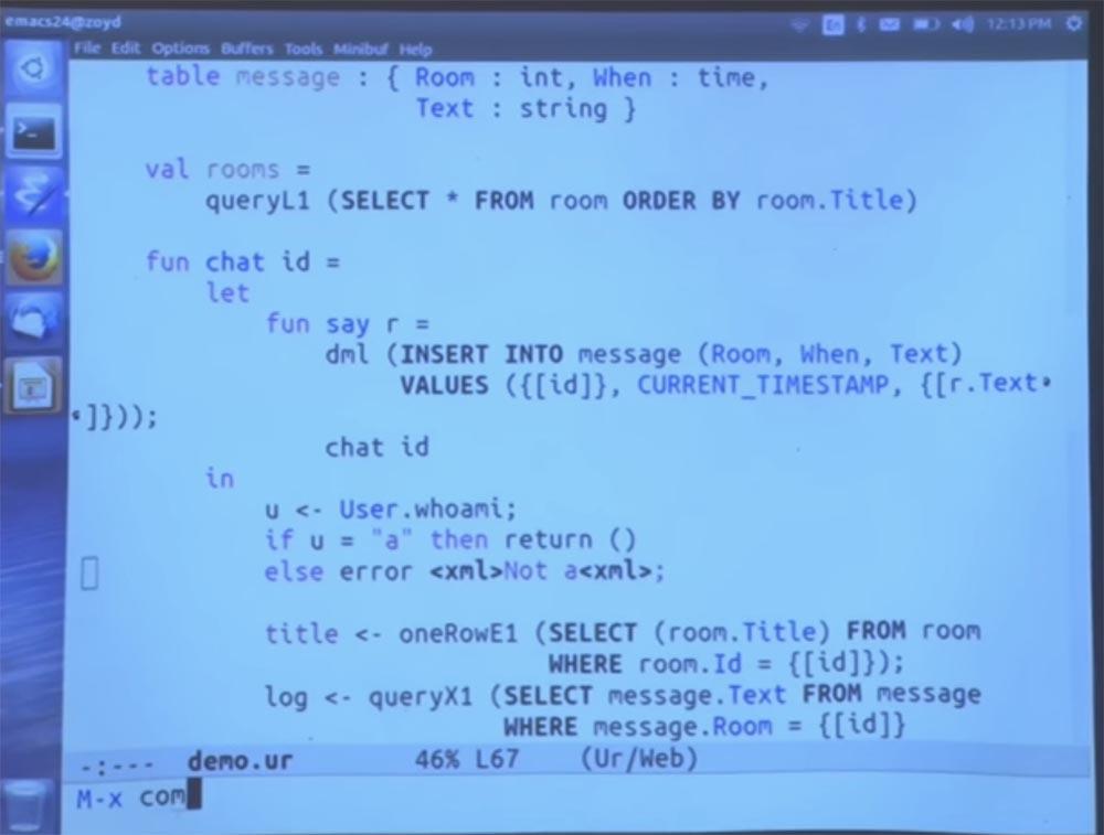 Курс MIT «Безопасность компьютерных систем». Лекция 11: «Язык программирования Ur-Web», часть 3 - 23