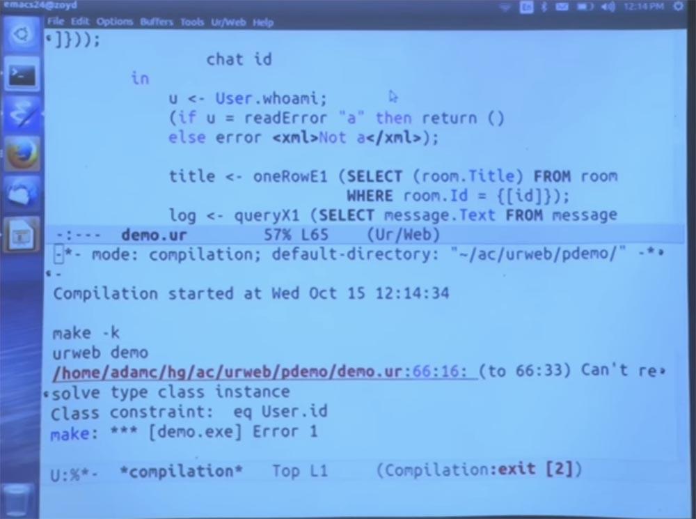 Курс MIT «Безопасность компьютерных систем». Лекция 11: «Язык программирования Ur-Web», часть 3 - 25