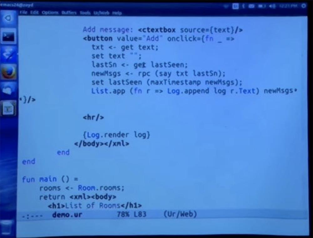 Курс MIT «Безопасность компьютерных систем». Лекция 11: «Язык программирования Ur-Web», часть 3 - 31