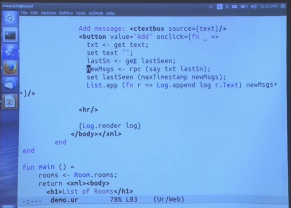 Курс MIT «Безопасность компьютерных систем». Лекция 11: «Язык программирования Ur-Web», часть 3 - 32