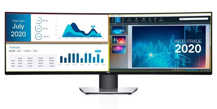 Dell UltraSharp U4919DW: монитор Dual QHD размером 49 дюймов