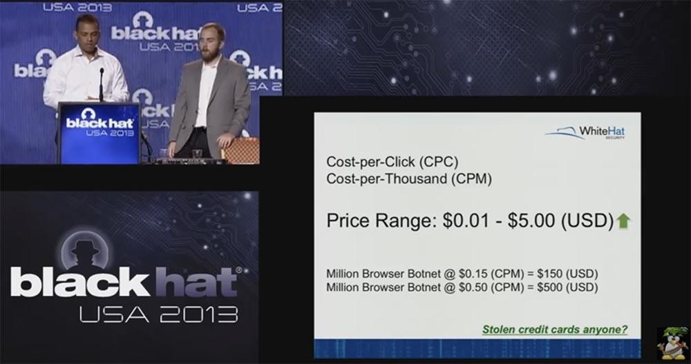 Конференция BLACK HAT USA. Ботнет из миллиона браузеров. Часть 2 - 13