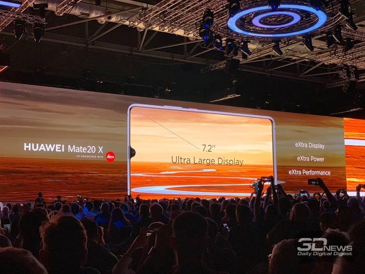 Смартфон игрового уровня Huawei Mate 20X получил гигантский 7,21″ дисплей