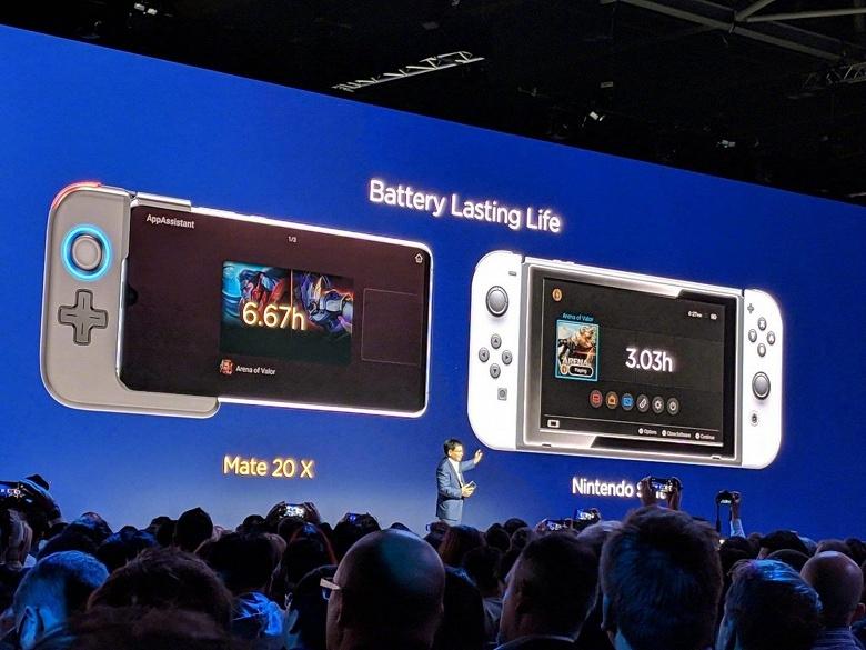 Huawei считает, что её игровой смартфон Mate 20X лучше приставки Nintendo Switch