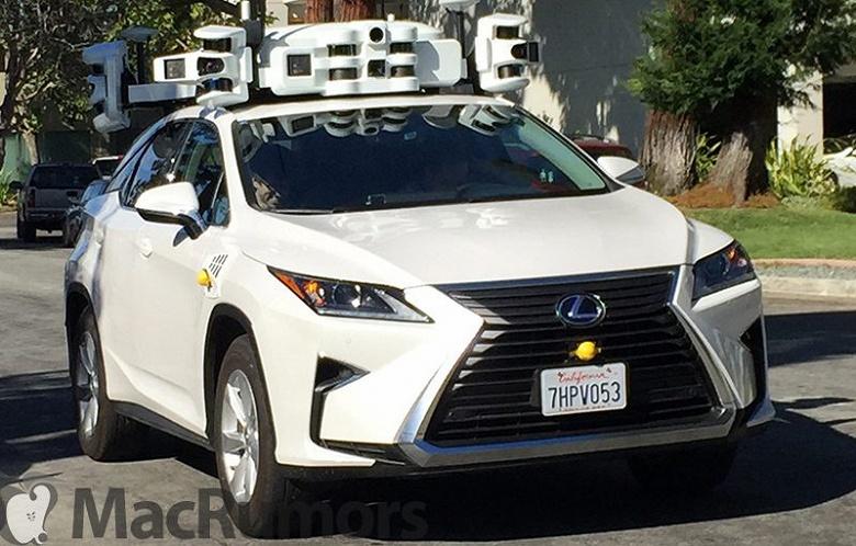 Беспилотный автомобиль Apple попал в аварию возле штаб-квартиры компании