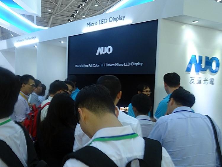 AUO показала 12,1-дюймовый дисплей MicroLED