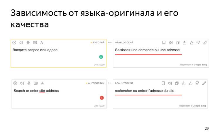 История и опыт использования машинного перевода. Лекция Яндекса - 19