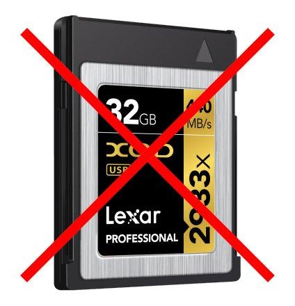 Под маркой Lexar больше не будут выпускаться карты памяти XQD