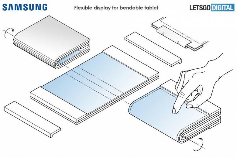 После сгибающегося смартфона Samsung выпустит аналогичный планшет