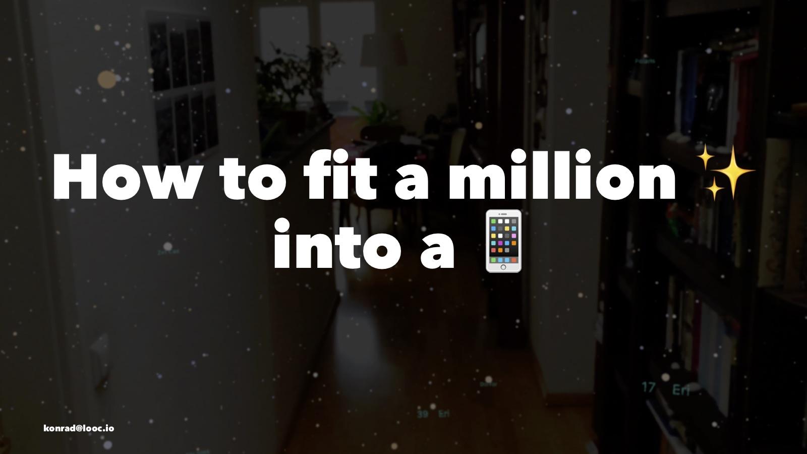 Как уместить в айфоне миллион звёзд - 1